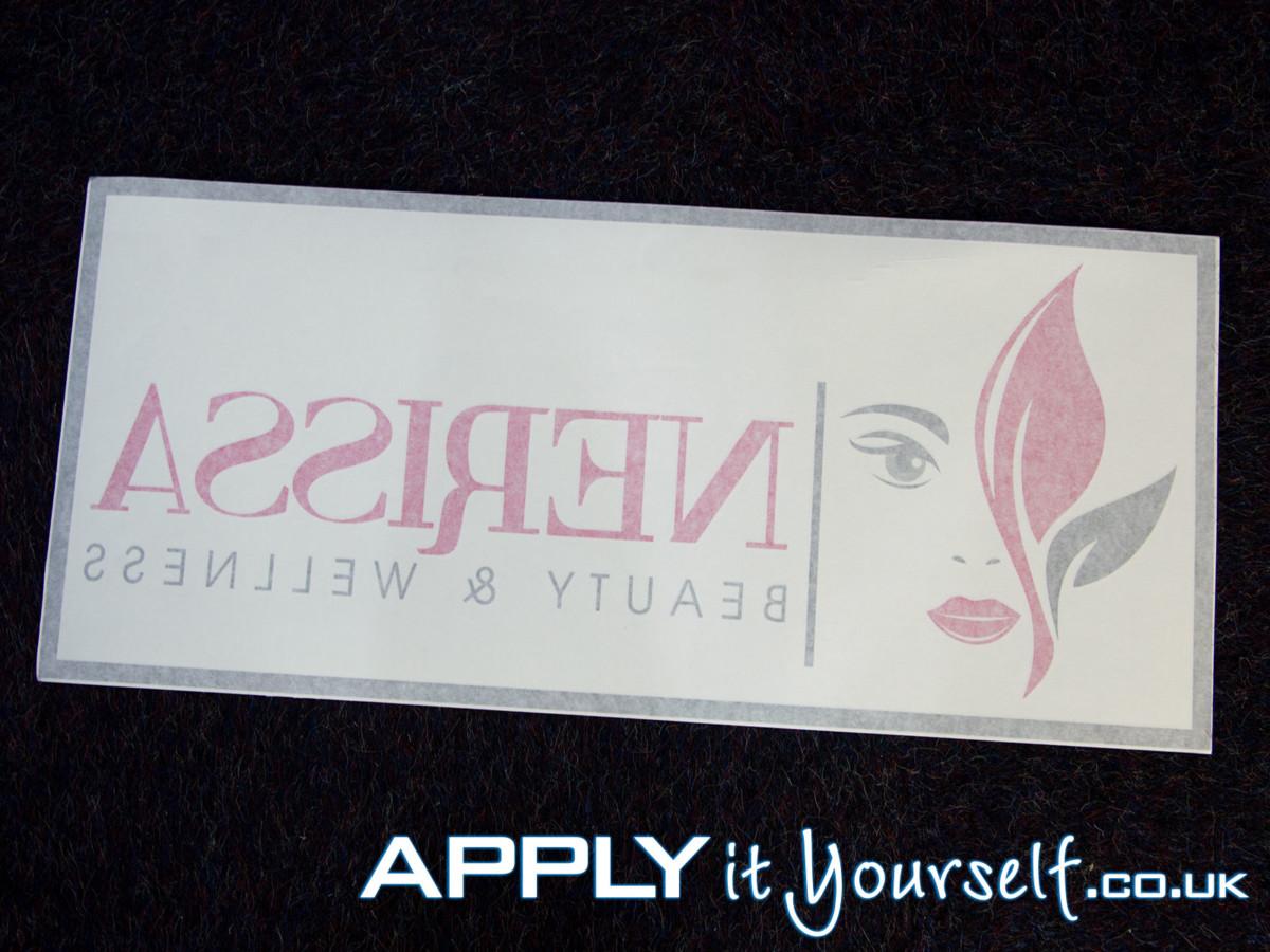 custom, logo, window decal, shop door, multiple colours, transfer tape