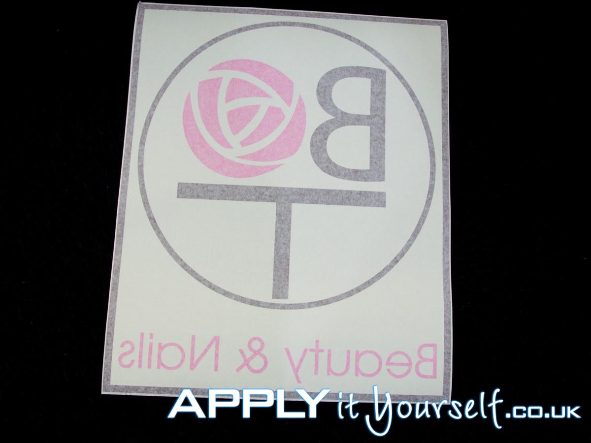 custom, logo, window decal, shop, multiple colours, transfer tape