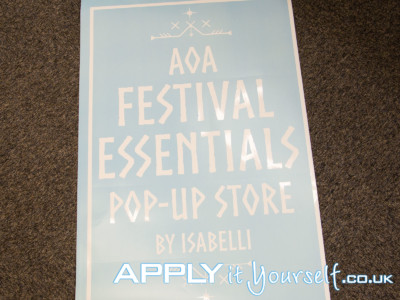 large, window decal, custom, pop-up store