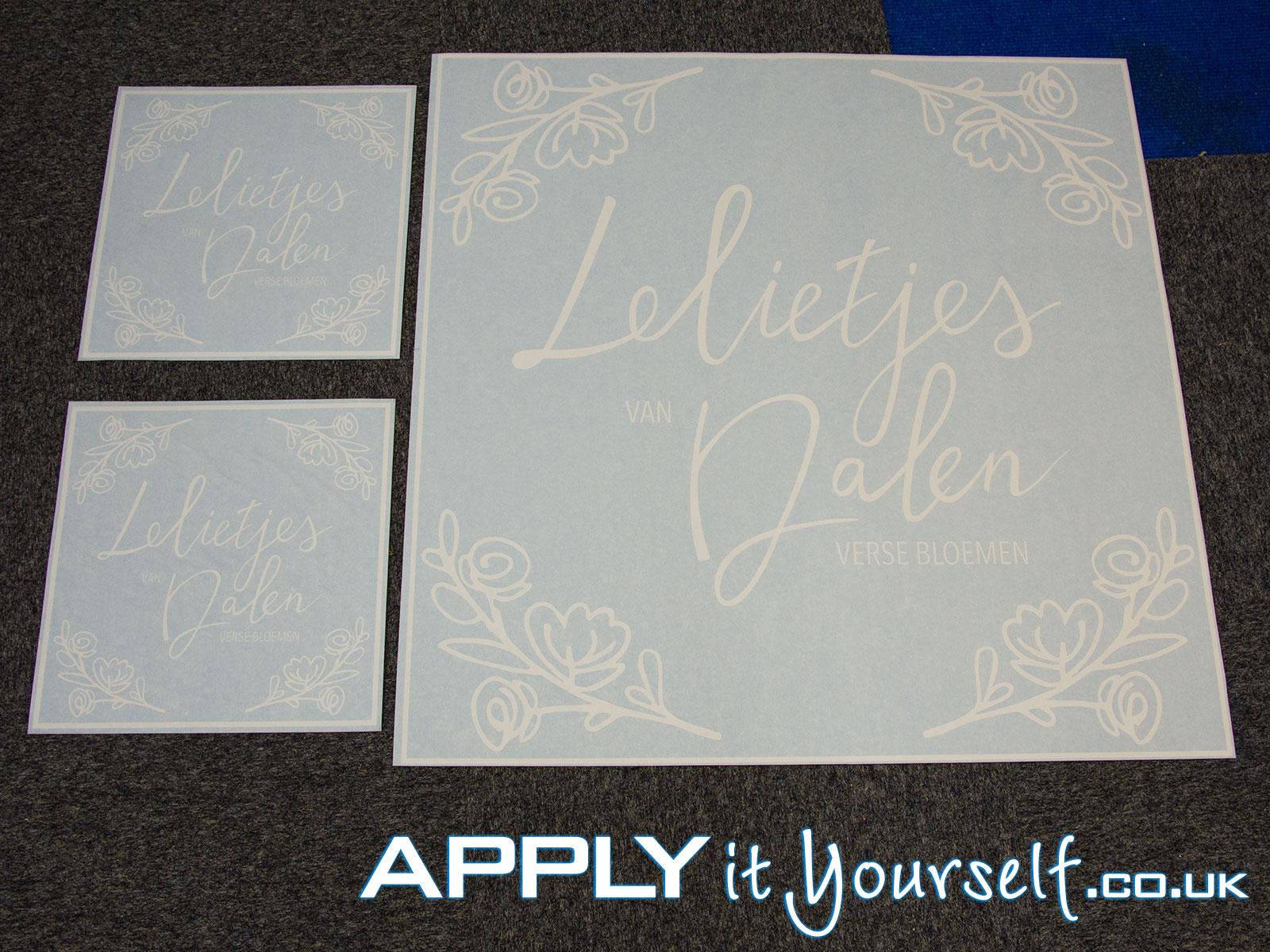 window decal, white, custom, logo, multiple-sizes