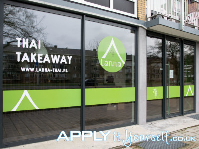 window stickers, branding, logo, store front