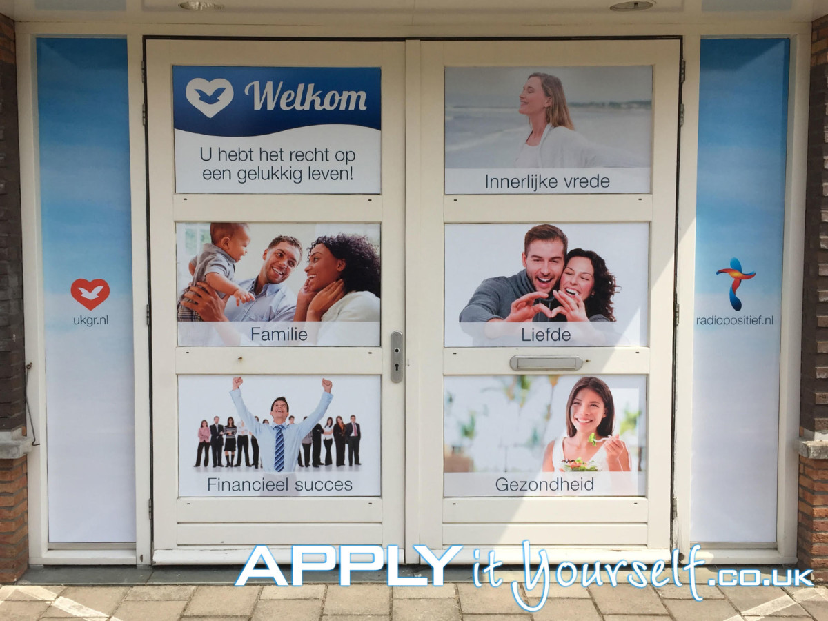 window stickers, branding, storefront, privacy