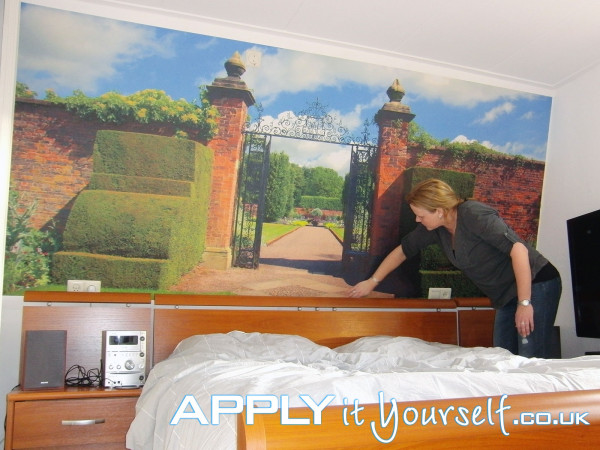 wall mural, custom design, photo, sticker, removable, bedroom
