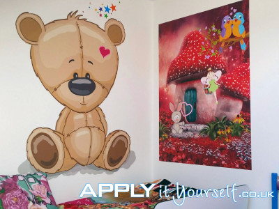 wall mural, prints, cut-to-shape, rectangular, kids, bedroom