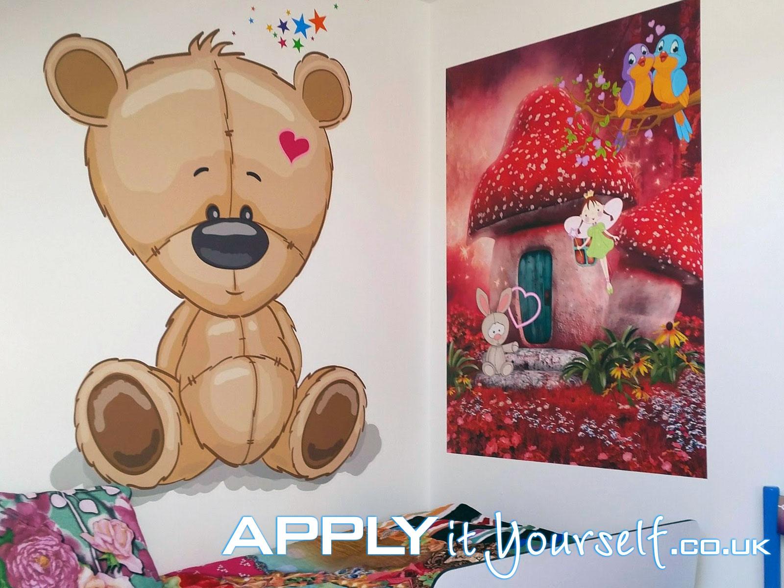 wall mural, prints, cut-to-shape, rectangular, kids, bedroom