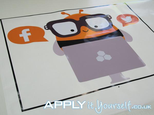 wall sticker, bespoke, cut-to-shape, branding, logo