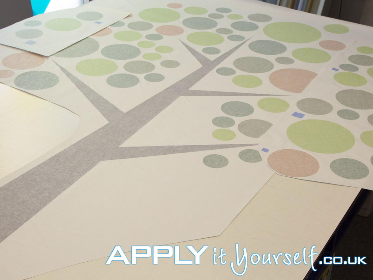 wall sticker, custom, tree, cut-to-shape, large, with transfer tape