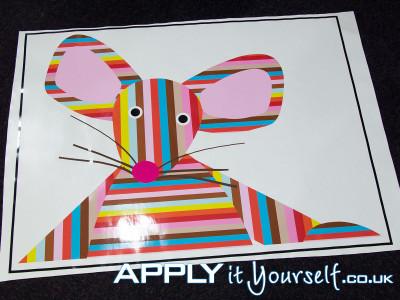 wall sticker, cut-to-shape, branding