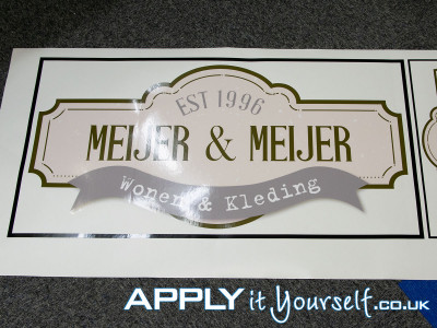 wall sticker, cut-to-shape, logo