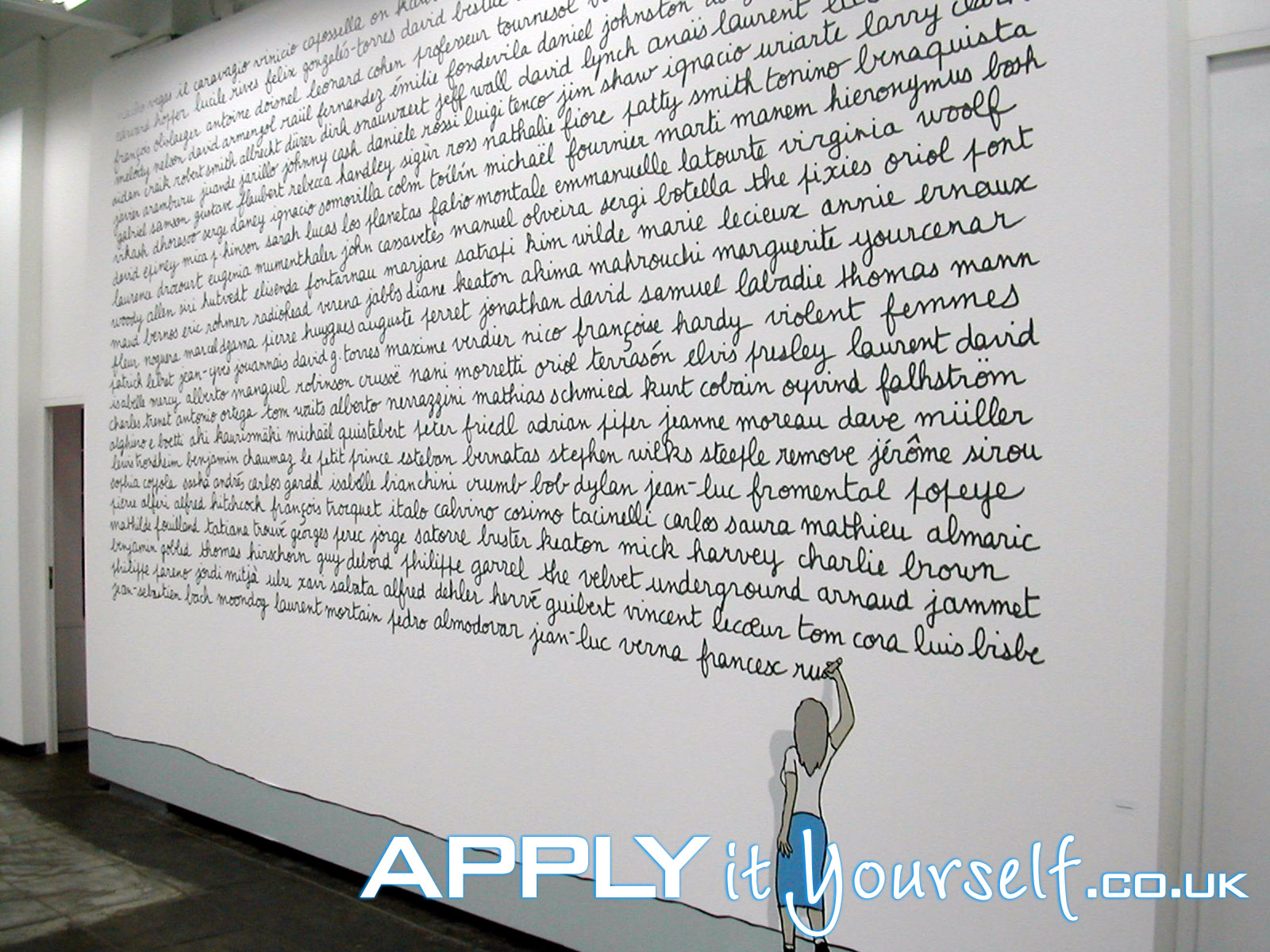 wall sticker, large, exposition, removable, wall mural