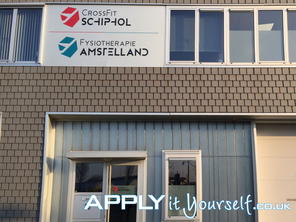 wall sticker, storefront, outdoor, signage, cut-to-shape