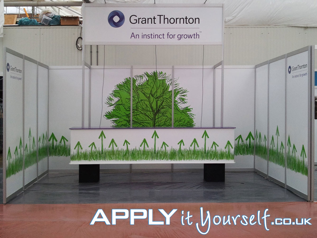 wall stickers, bespoke, booth, stand, trade-fair, exposition, walls, branding
