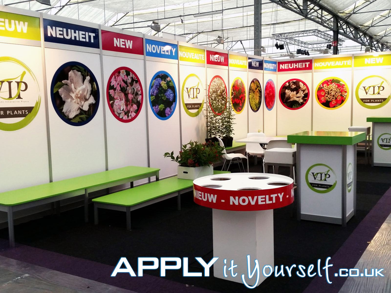wall, stickers, bespoke, large stickers, booth, trade-fair