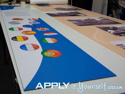 wall stickers, custom shapes, long durability, laminated, mat, signage