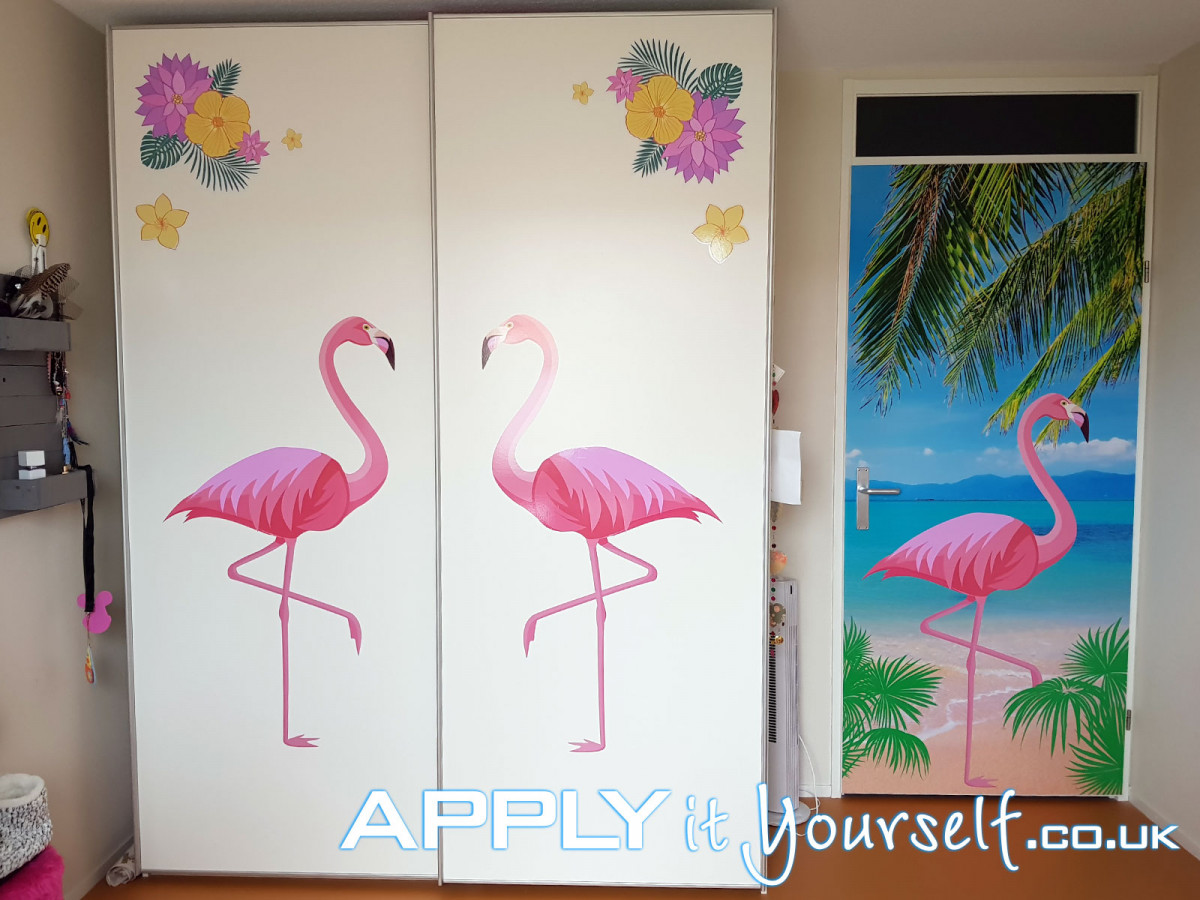 wall stickers, door cabinet, door, closet, storage space