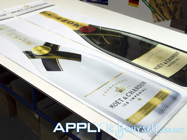 wall stickers, large, branding