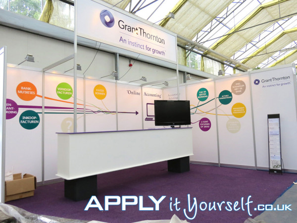 wall stickers, large, removable, booth, trade-fair, exposition