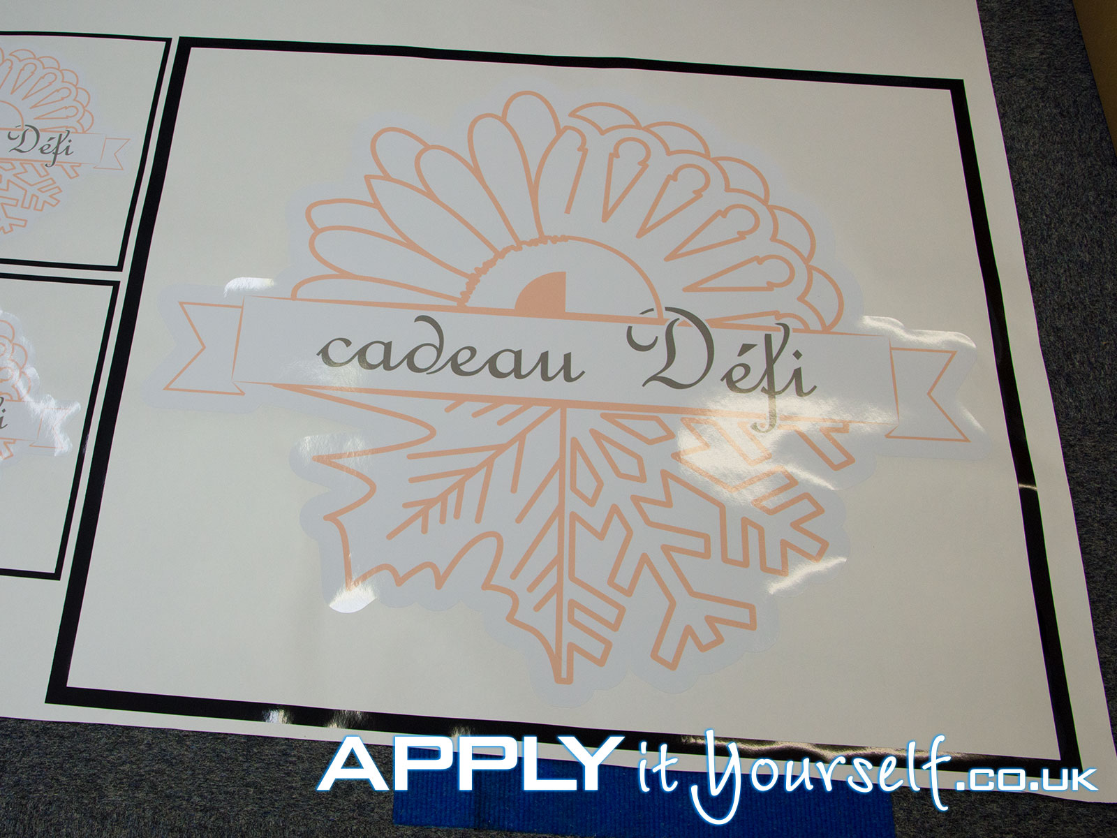 wall stickers, multiple sizes, cut-to-shape, logos