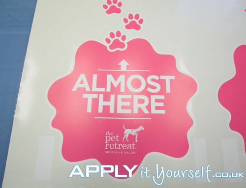 Floor decal, opening, new, shop