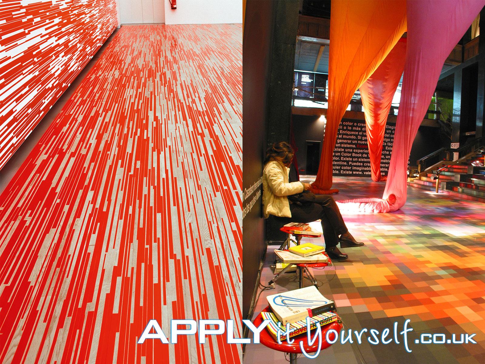 floor stickers, floor decals, floor graphics, exhibition, event