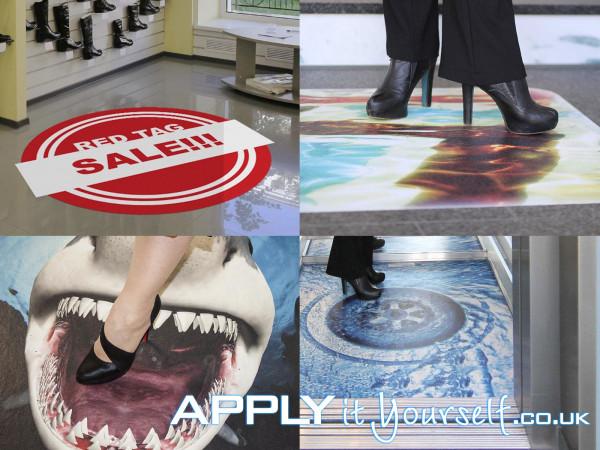 floor stickers, floor decals, floor graphics, promotion, event