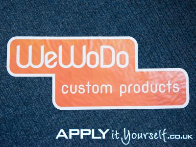 floor graphic, logo, carpet, custom shape