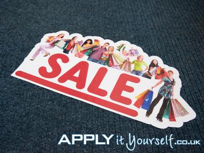 floor graphic, sale, carpet, cut-to-shape, bespoke