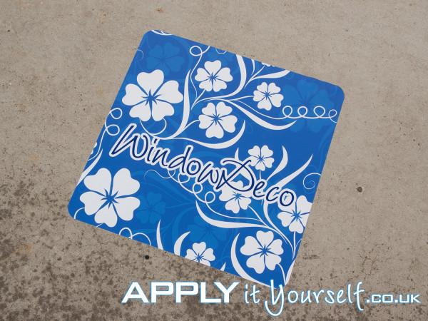 floor sticker, outdoors, outside, walkway