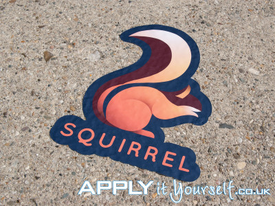 floor stickers, logo, concrete, cement, outdoors, sidewalk, outside