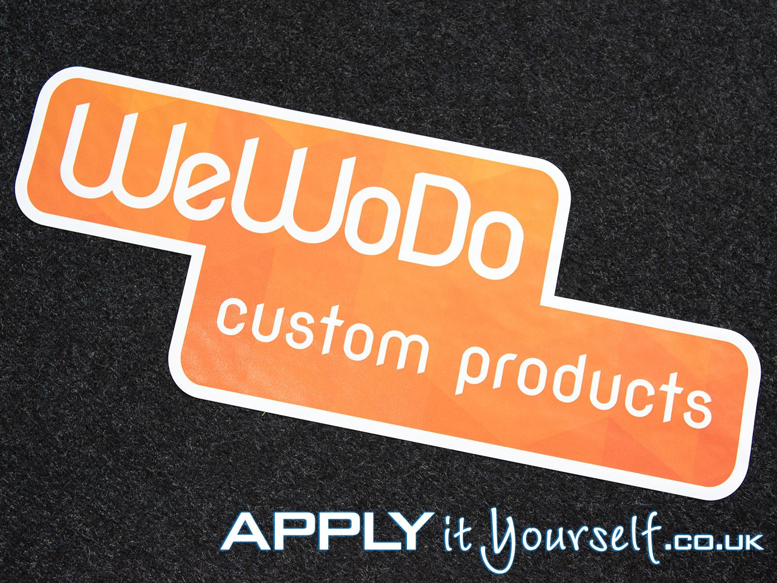 floor stickers, logo, custom shape