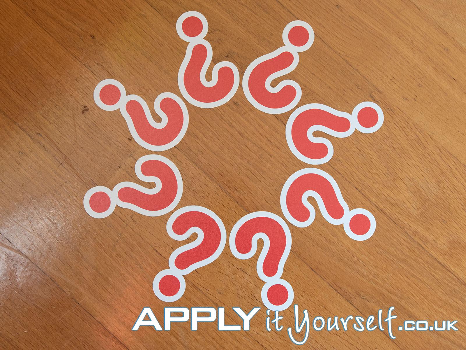 floor stickers, multiple, cut-to-shape