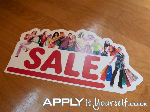 floor stickers, sale, cut-to-shape, bespoke