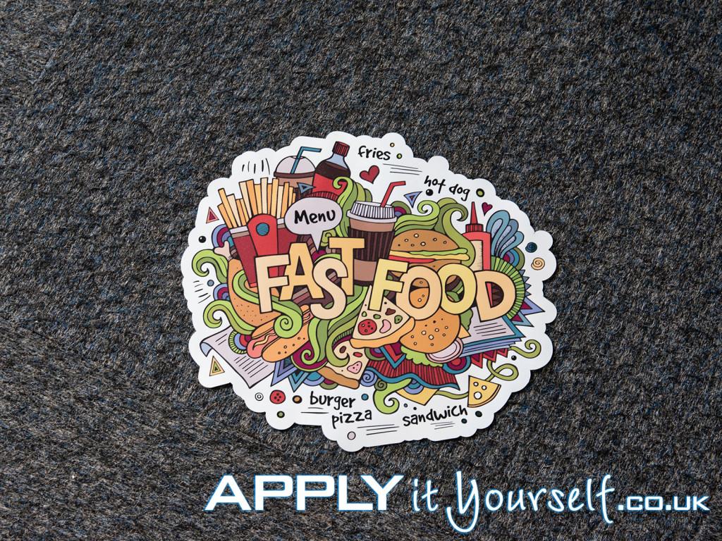 floor stickers, store, restaurant, carpet