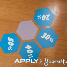 multiple, floor stickers, honeycomb, discount