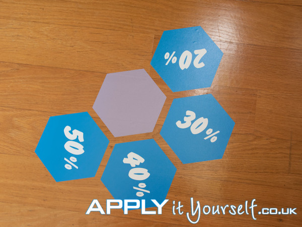 multiple, floor stickers, honeycomb, discount