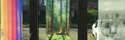 two way vision, window film, back, inside, custom