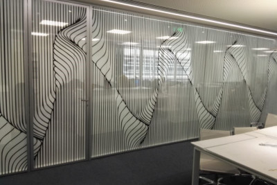 two way vision, window film, office, glass wall, perforated window film