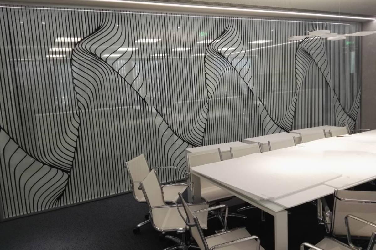 two way vision, window film, office, perforated window film