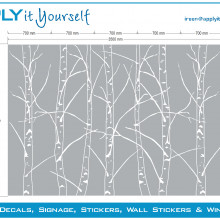 Frosted window film (1), privacy, trees, branches, dividing glass wall